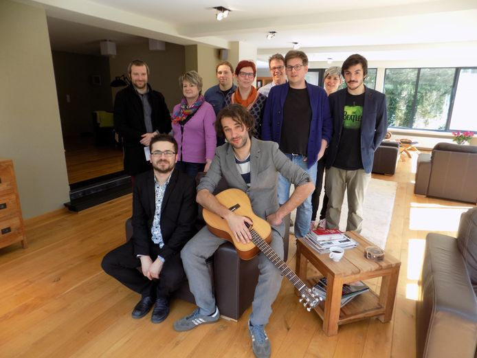 Lennaert Maes, Andries Boone, Jochen Smets en de andere organisatoren.