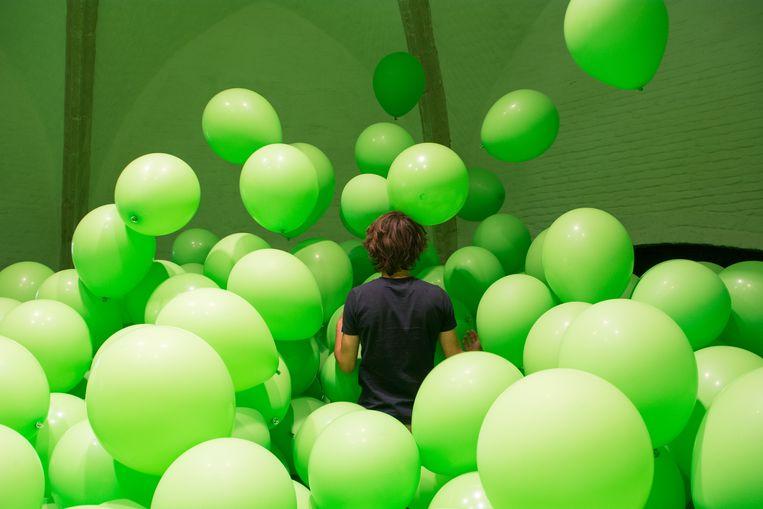Een installatie op het kunstenfestival PLAY in Kortrijk. Beeld RV - Martin Creed