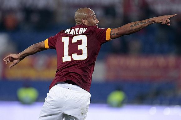 Maicon scoorde de 1-1.