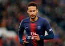 Neymar in het shirt van zijn club Paris Saint-Germain.