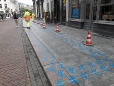 Blauwe fietsjes bij ingang van Bossche McDonald's moeten nu langer blijven zitten