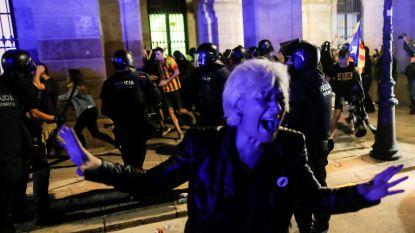 Massaprotest in Barcelona voor onafhankelijkheid Catalonië eindigt met rellen