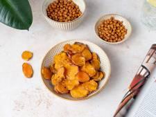Wat Eten We Vandaag: Zoete aardappelchips en geroosterde kikkererwten
