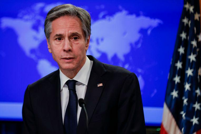 De Amerikaanse minister van Buitenlandse Zaken Antony Blinken. Beeld AP