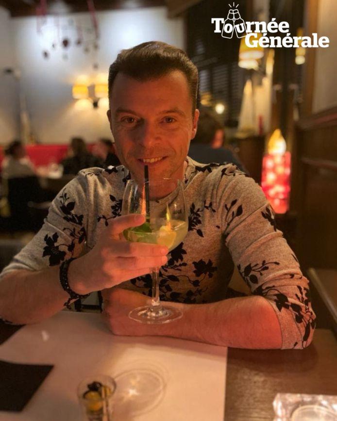 Filip D'haeze hoopt snel weer van een gin-tonic te kunnen genieten.