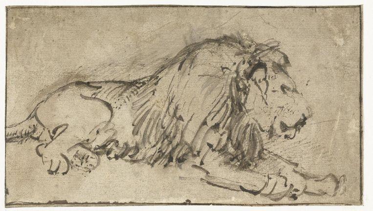 Een tekening van Rembrandt Beeld Rijksmuseum