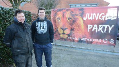 Organisatoren Jungle Party plaatsen zelf straatverlichting
