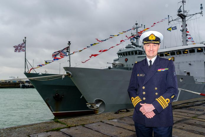Vlootcommandant Peter Ramboer, net voor hij het ruime sop koos in 2018.