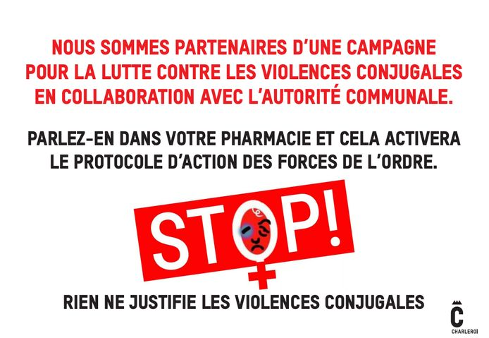 Affiches concernant les violences conjugales à Charleroi