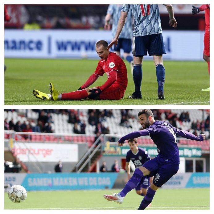 Vaclav Cerny van FC Twente en Rai Vloet van Heracles.