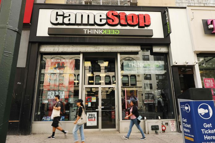 Een winkel van GameStop.