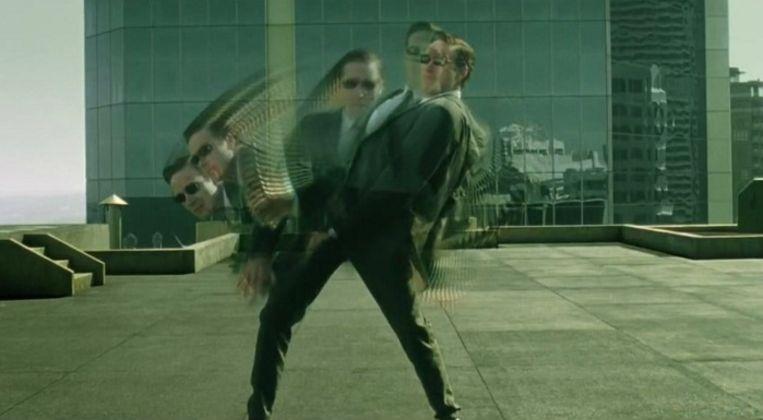 Beeld uit de film 'The Matrix', waarin de werkelijkheid niet meer blijkt dan een computersimulatie. Beeld rv