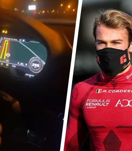 """Un futur pilote de Formule 3 publie des vidéos montrant quelqu'un rouler à 300 km/h sur la E17: """"Ce n'était pas Amaury au volant"""""""