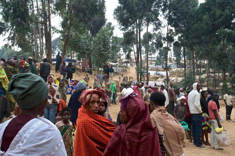 Congolese vluchtelingen in Rwanda. (archieffoto) Beeld REUTERS