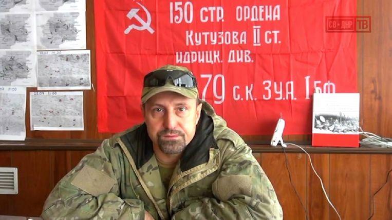 Chodakovski in zijn hoofdkwartier in Donetsk, de 'hoofdstad' van de opstandige 'Volksrepubliek Donetsk'. Hij zegt dat vechten geen beslissing kan brengen, alleen de politiek. 'We hebben domweg de kracht neit om een offensief te beginnen.' Beeld