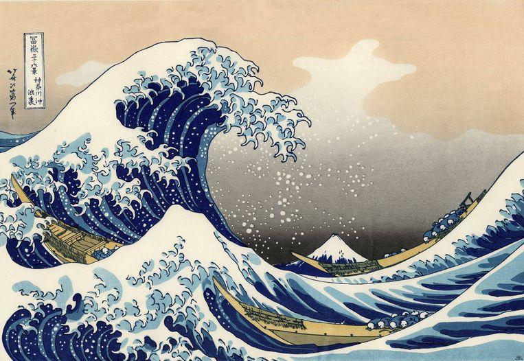 Katsushika Hokusai: De grote golf van Kanagawa. Beeld Getty