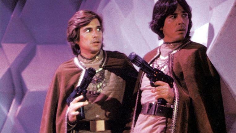 Eind jaren 70 verscheen de originele 'Battlestar Galactica', met in de hoofdrollen Starbuck en Apollo, op tv. Beeld Photo12