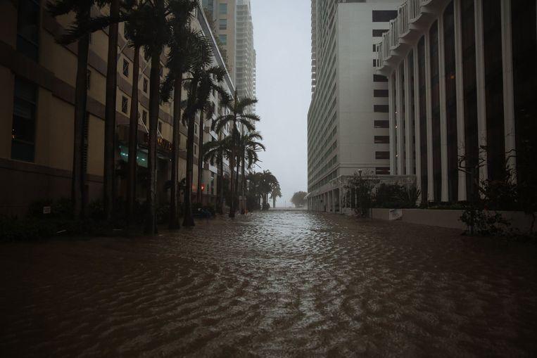 In Miami staat zowat alles onder water. Beeld Photo News