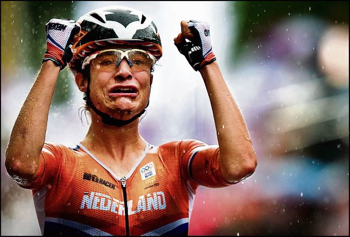 Olympische Spelen Londen Marianne Vos wint goud op de weg. Foto Pim Ras