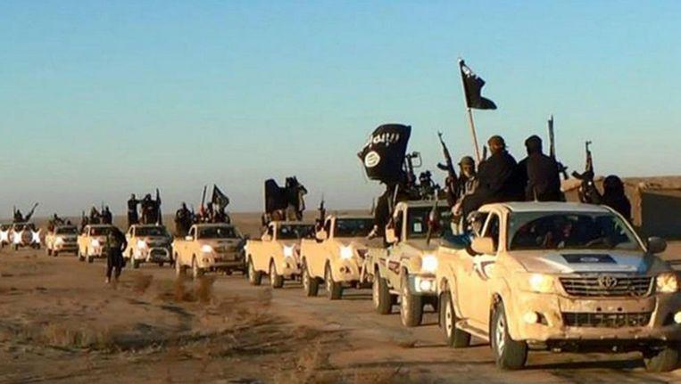 Strijders van IS vlak bij Raqqa Beeld ap