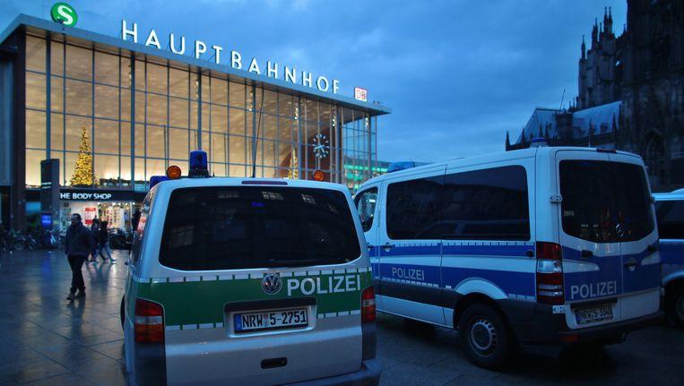 Het stationsplein in Keulen. Beeld EPA