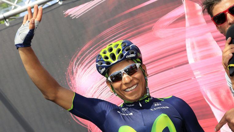 De Colombiaan Nairo Quintana liet in de zestiende etappe geen spaander heel van de concurrentie.