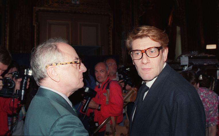 Pierre Bergé en Yves Saint Laurent in juni 1992. Beeld AFP