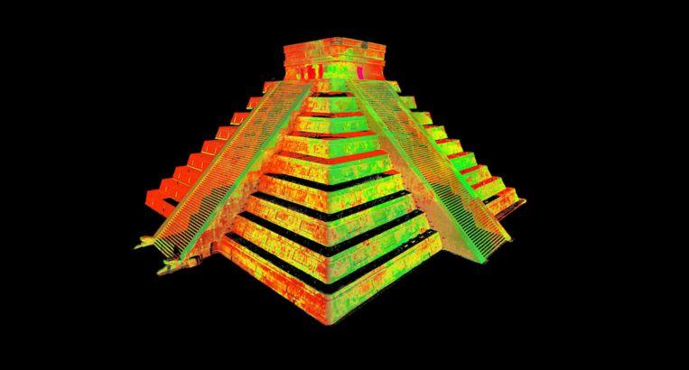 Chichen Itza in 3D Beeld Google