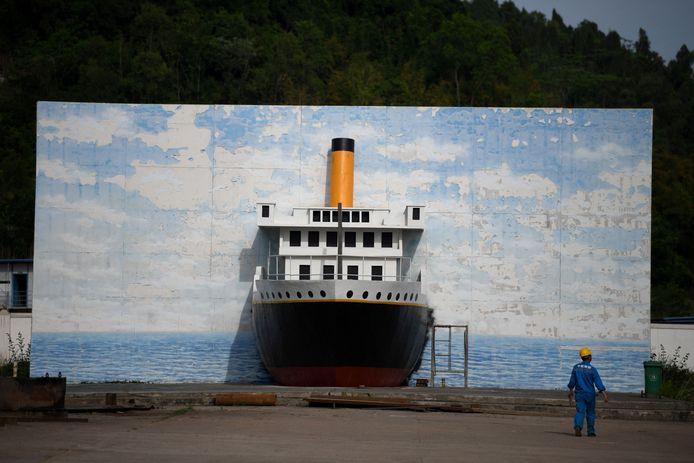De site waar de replica van de Titanic wordt gebouwd