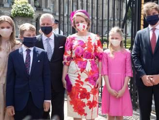 IN BEELD. Koningshuis coronaproof op vreemdste nationale feestdag ooit, behalve prins Laurent