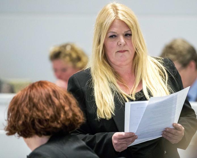 2018-05-17 16:35:52 DEN HAAG - Gemeenteraadslid Willie Dille (PVV) tijdens de gemeenteraadsvergadering met Burgemeester Pauline Krikke.