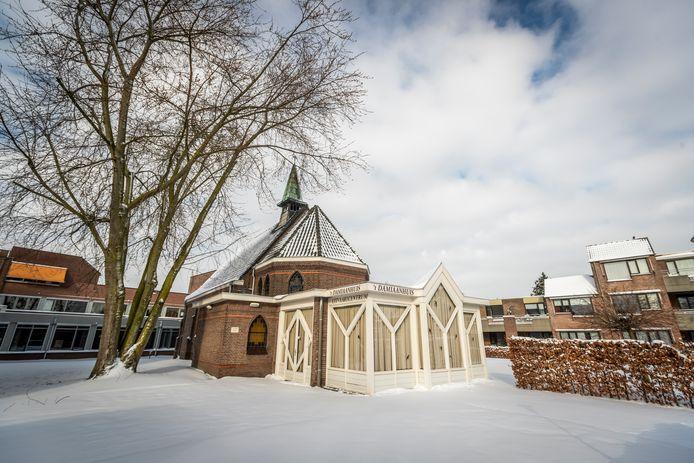 De kapel in de tuin van Savant woonzorgcentrum Alphonsus in Helmond.