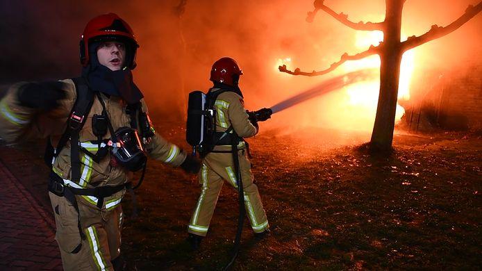 Brandende boerderij Riethoven, videostill.
