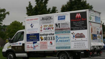 CNG-vrachtwagen vervangt reclamecamionette