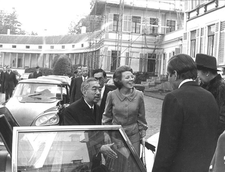 Hirohito tijdens een staatsbezoek aan Nederland in 1971.