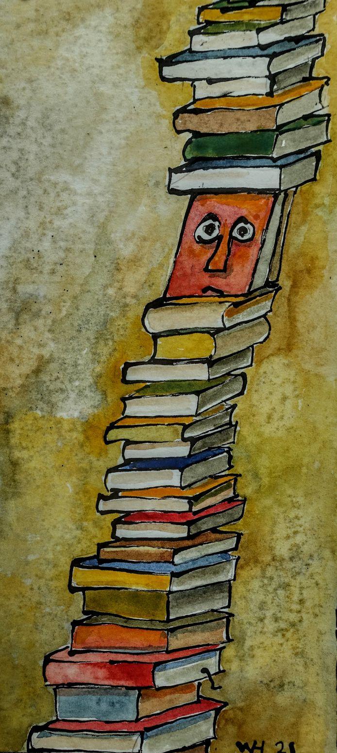 Wim Hofman: een stapel boeken