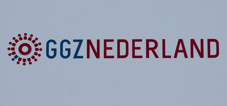 Logo bij het hoofdkantoor van de GGZ Beeld ANP