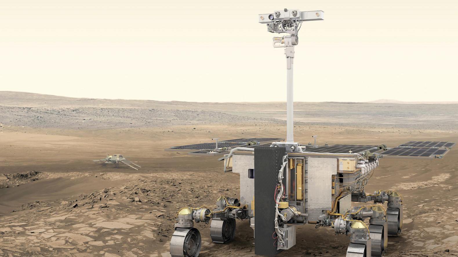 Een conceptfoto van ExoMars, die volgens ESA een meer aantrekkelijke naam verdient.