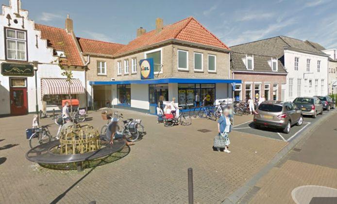 De Lidl in Sint-Maartensdijk.