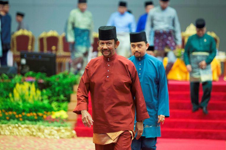 De sultan van Brunei, Hassanal Bolkiah. Beeld AFP