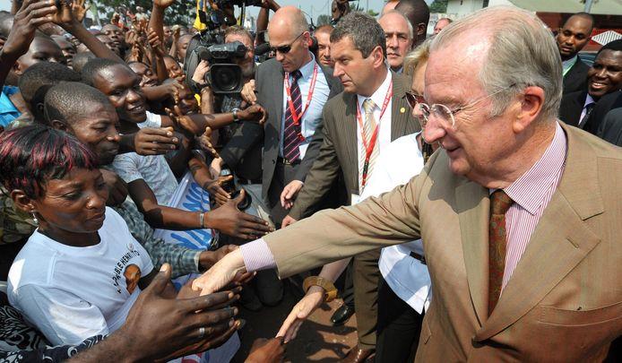 Albert II au Congo en 2010