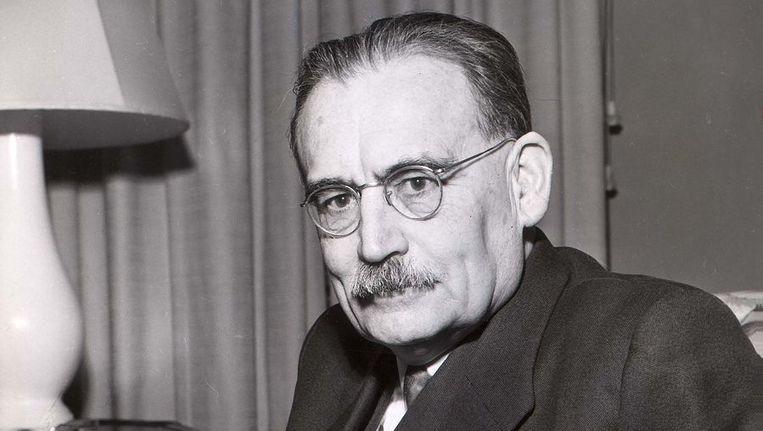 Premier Willem Drees in 1952. Beeld EPA