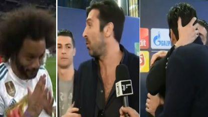 Zo groot is het respect voor cultheld Buffon: een buiging van Marcelo voor de match, een knuffel van Ronaldo erna
