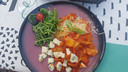 Hoofdgerecht Hasta la Pasta: tagliatelle met Napolisaus en Gorgonzola kaas