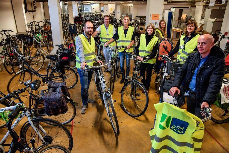 De fietsenstalling in Sint-Blasius zal nog worden uitgebreid.