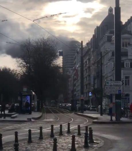 Incendie dans la Louise Tower à Bruxelles