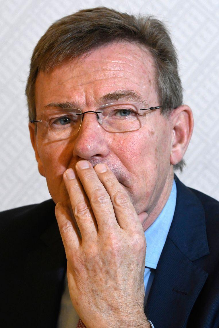 Minister van Financiën Johan Van Overtveldt . België heeft ruim een miljoen inlichtingen over belastingplichtigen uitgewisseld met andere landen. In eigen land is die transparantie er niet. Beeld Photo News