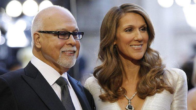 Celine Dion en haar man Rene Angèlil. Hij overleed in 2016 aan keelkanker.
