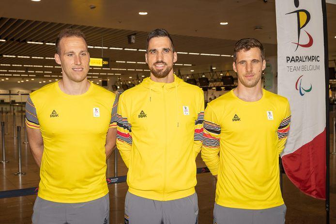 Tom, Arne et Bruno Vanhove vont disputer les Jeux Paralympiques de Tokyo