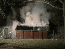 Tuinhuis loopt flinke schade op bij brand in Nijmegen